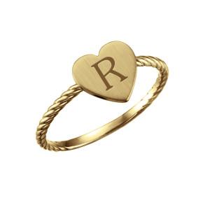 bePOSH Stackable Heart Ring Rope Band