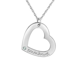 Medium Birthstone Heart Loop