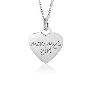 White Mommy's Girl Sweetheart Necklace for Little Girls