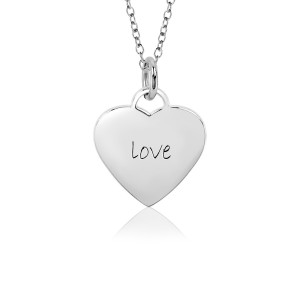 White Love Sweetheart Necklace