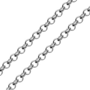 Close up of Adustable Rolo Chain Necklace