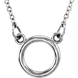 White tiny POSH Loop Necklace