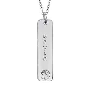 Basketball Tall Tag