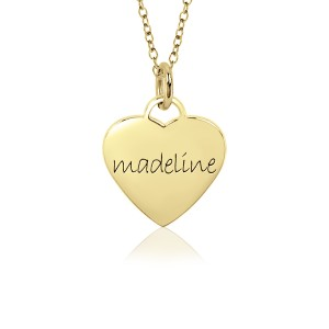 Sweetheart Vermeil Mommy Necklace Personalized Jewelry