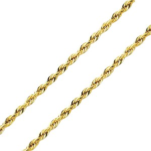 Vermeil Diamond Cut Rope Chain