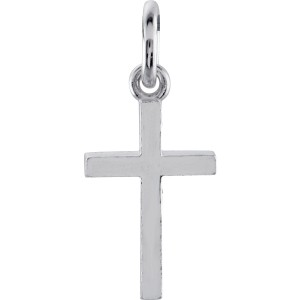 White Cross Charm Personalized Jewelry
