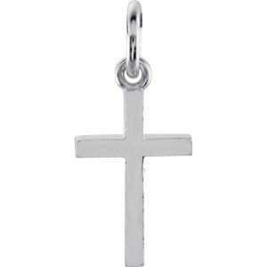 White Cross Charm Personalized Jewelry