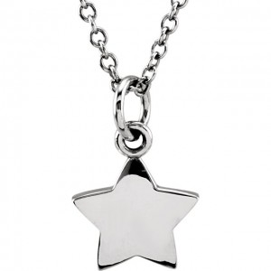 White tiny POSH Star Necklace