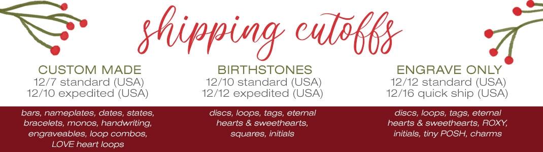 Christmas Shipping Cutoff