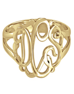 Monogram Ring Gold